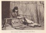 Ainu woman making a mat