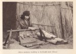 Ainu woman making a mat