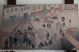 Depiction of a busy time long ago