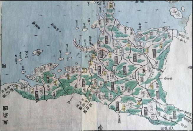 Japan, province Chikuzen ; Motonobu Aoo Toshiro Eirakayu - 筑前国; Chikuzen no kuni - ca. 1820