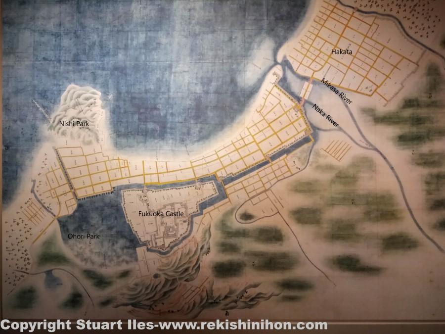 Fukuoka old map