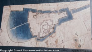 Edo period map of Fukuoka castle
