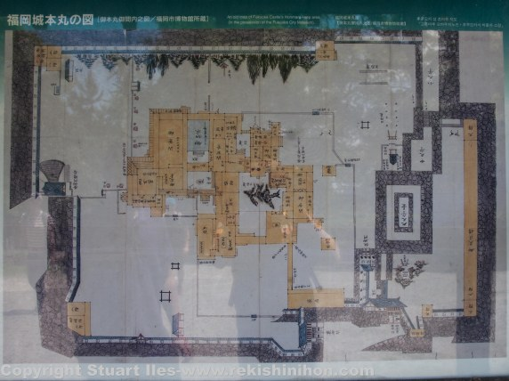 Map of the honmaru