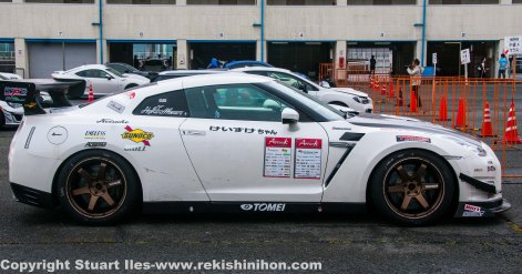GT3 GTR look alike. This was the quickest car on the day