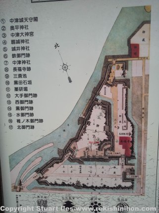 Map of the castle complex.