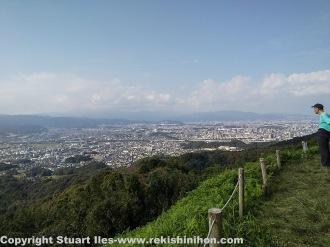 View of Dazaifu from the honmaru