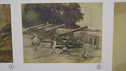 Original photos of the site and cannons