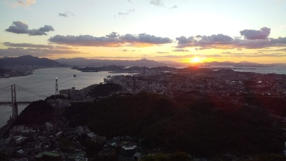 Beautiful sunset from the top of Hinoyama